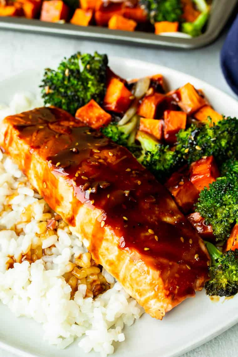 Sheet Pan Teriyaki Salmon and Vegetables