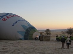 Up we go in Cappadocia