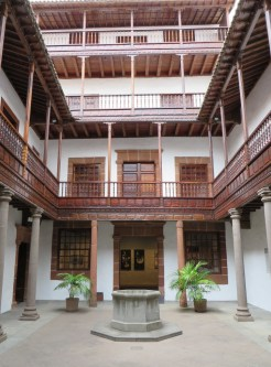 The inner courtyard of one of the houses (now houses an art school)