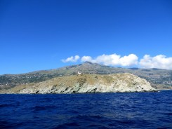 Sailing along the coast of Tinos and Andros