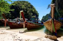 Koh Lao Lading and its flottila of long-tailed boats