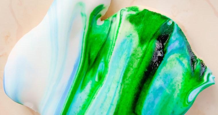 Sweet Mint Sugar Cookies (Watercolor Icing Look)