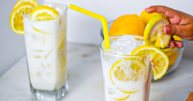 Refreshing Frosted Lemonade
