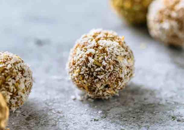 No-Bake Tahini Date Balls