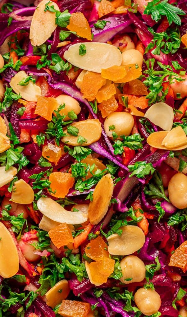 Close up of Winter Beetroot & Carrot Salad