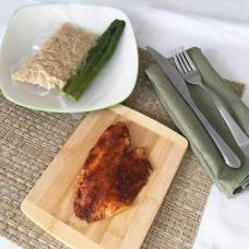 Blackened Tilapia with Brown Rice and Asparagus