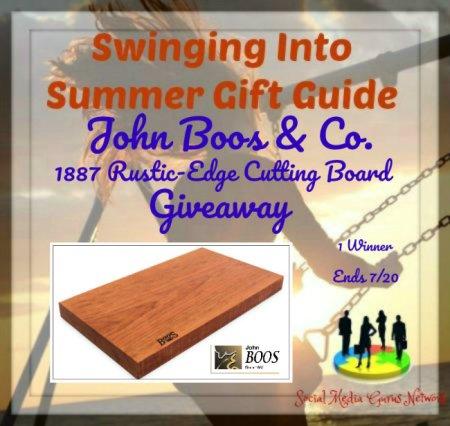 John Boos & Co. 1887 Rustic-Edge Cutting Board Giveaway