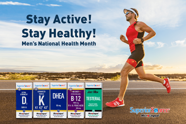 Join us as we celebrate men's health national month and enter to win a Stay Active. Stay Healthy.Superior Source Vitamins Prize Bundle valued at $90!