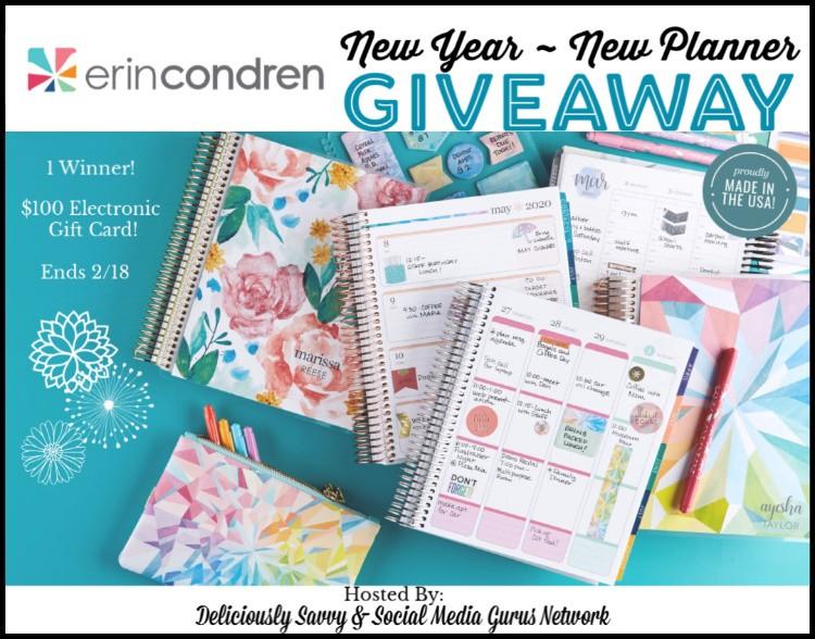 Erin Condren New Year New Planner Giveaway