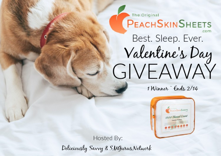PeachSkinSheets Valentine's Day Giveaway