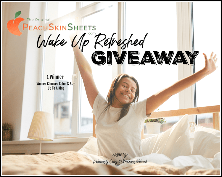PeachSkinSheets Wake Up Refreshed Giveaway