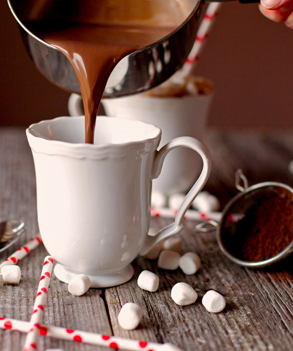 Homemade Hot Chocolate by Deliciously Yum!