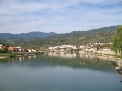 View on Visegrad from the bridge