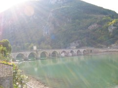 Bridge and beautiful Drina river