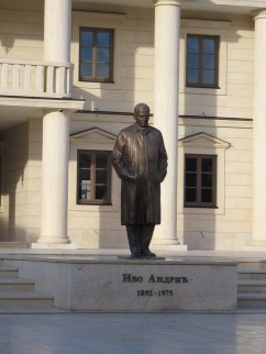 Statue of Ivo Andric, main square