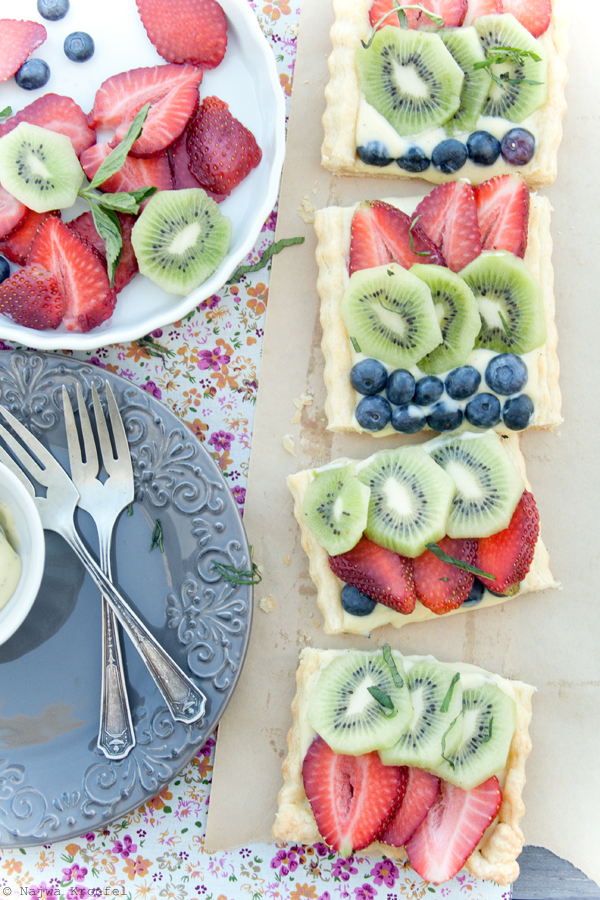 Fruit Tart with Cardamom Cream