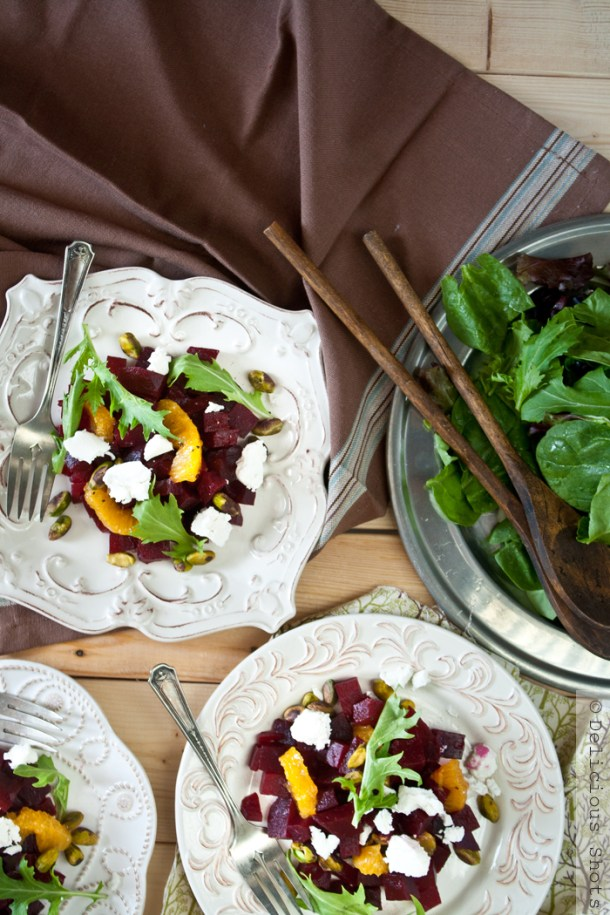 Beet & Goat Cheese Salad with Orange Segments