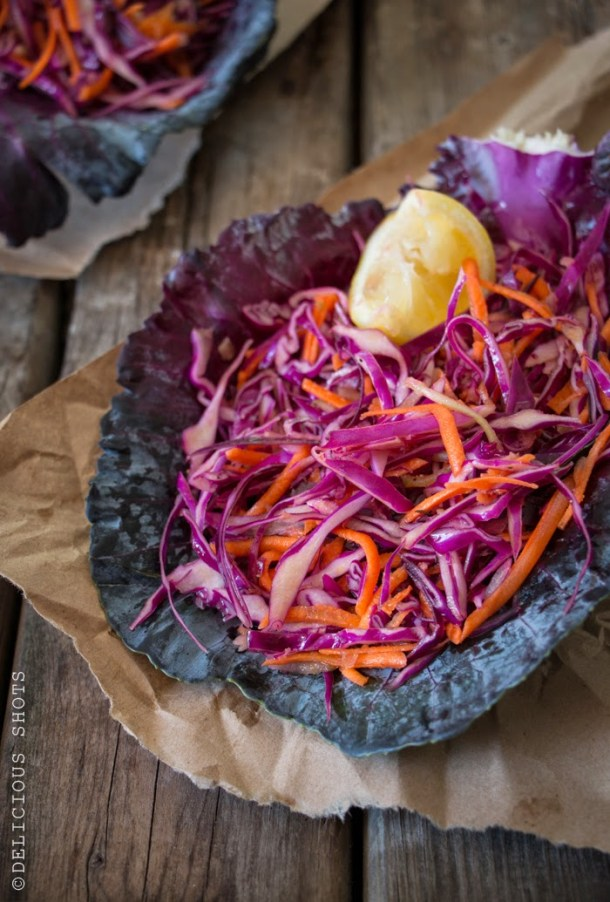Red Cabbage, Carrots, Celery and Toasted Cumin Salad