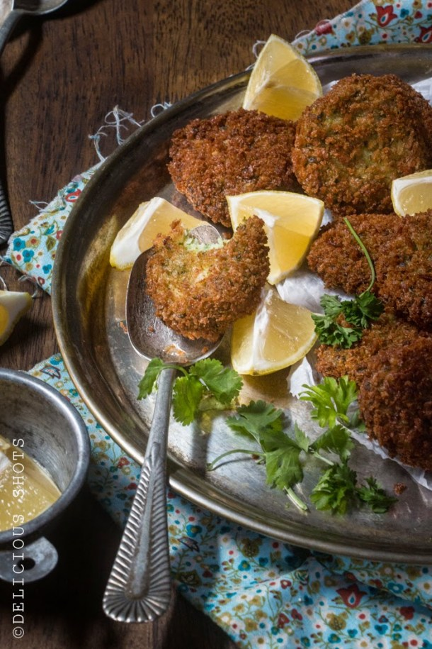 Crispy Fish Cakes With Pine Nuts And Fresh Herbs