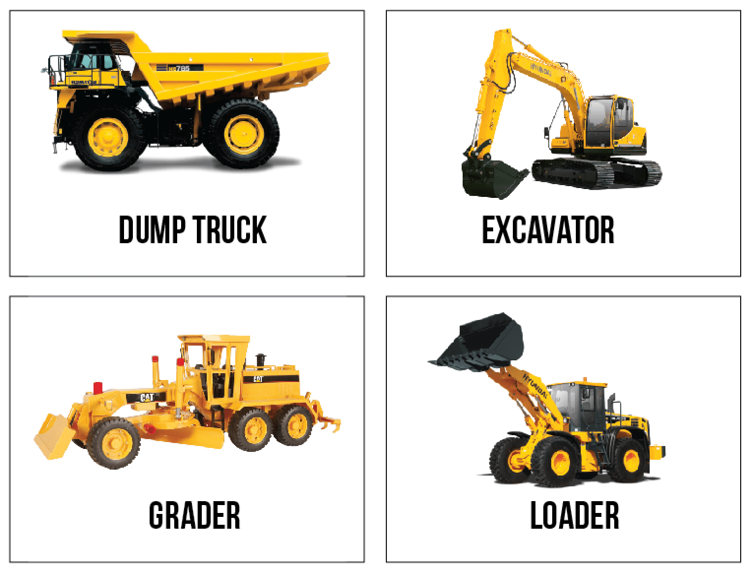 Delighted To Be Free Construction Truck Flashcards