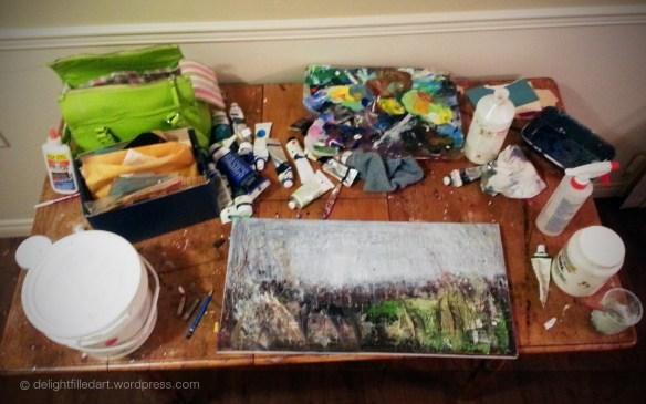 art studio mess