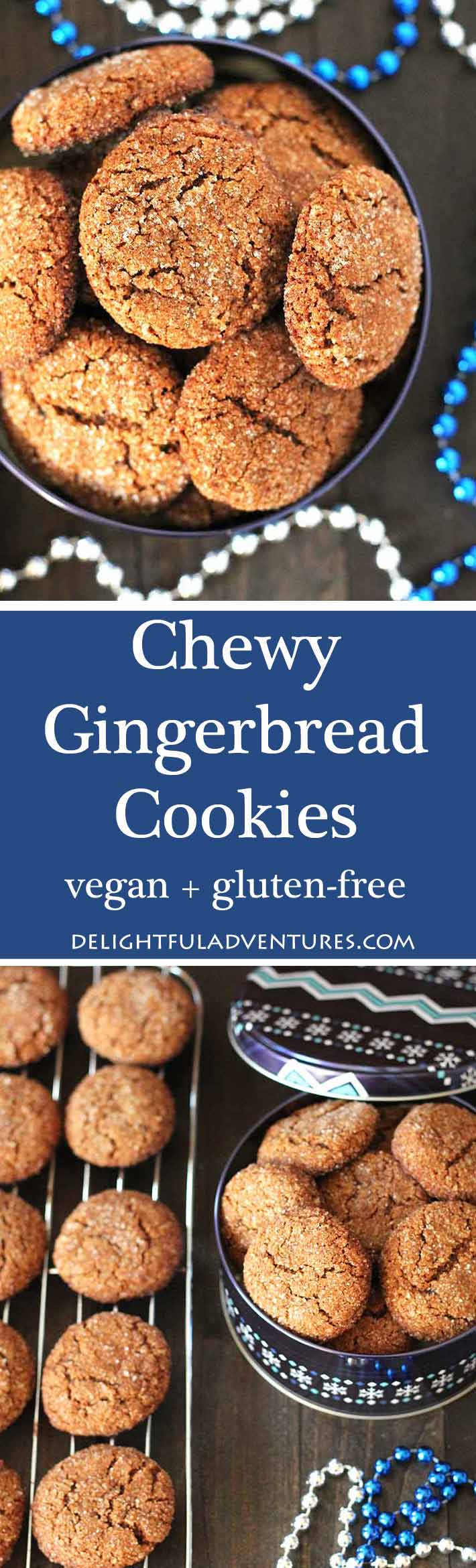 Chewy, perfectly spiced, these vegan gluten free gingerbread cookies will make a nice addition to your Christmas baking list and become a new favourite!