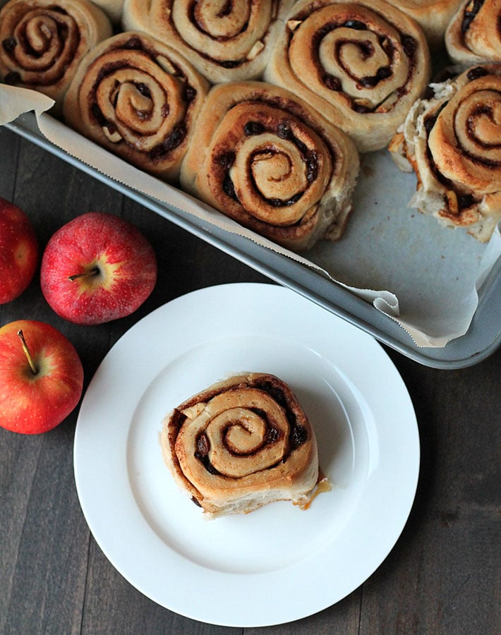 A little twist on the cinnamon rolls you know and love, these vegan Apple Raisin Cinnamon Rolls will have you wanting more.