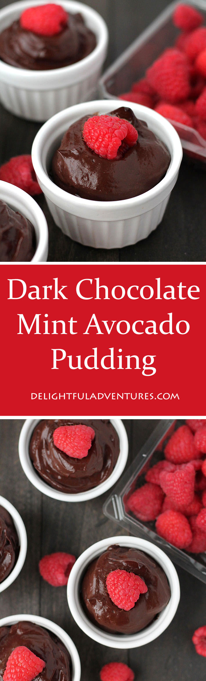 This sweet dark chocolate mint avocado pudding is smooth, chocolaty, and decadent. The best part about it? No one will believe it's made with avocados!
