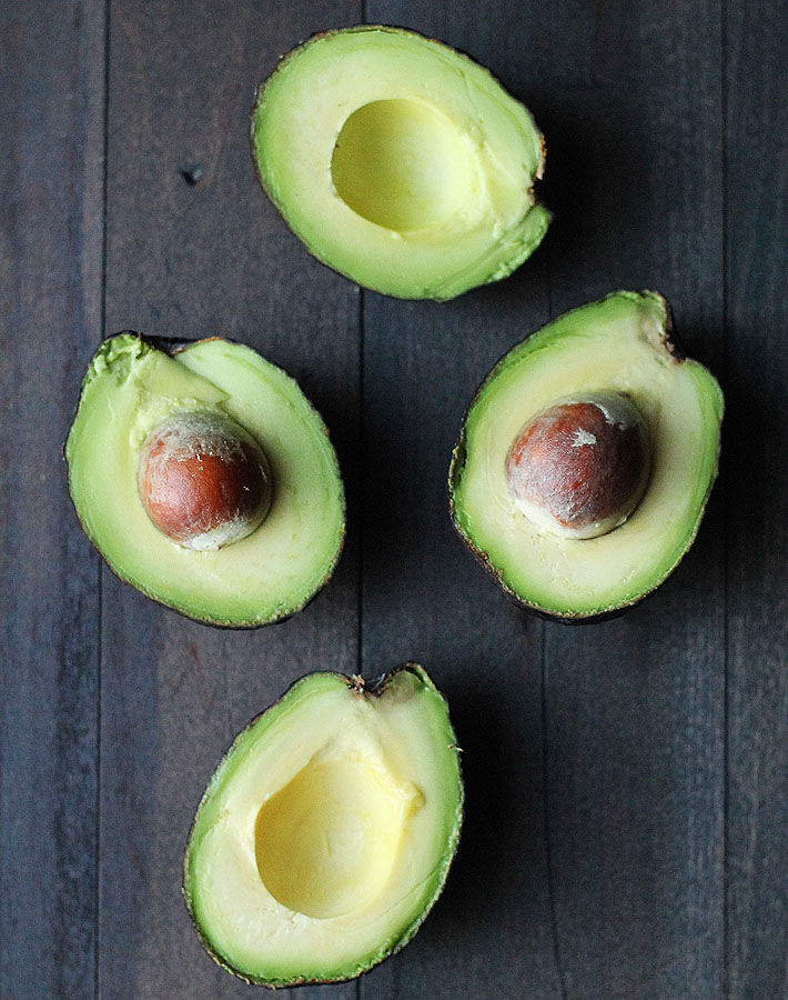 The perfectly ripe avocados used to make the Dark Chocolate Mint Avocado Pudding recipe found on this page.