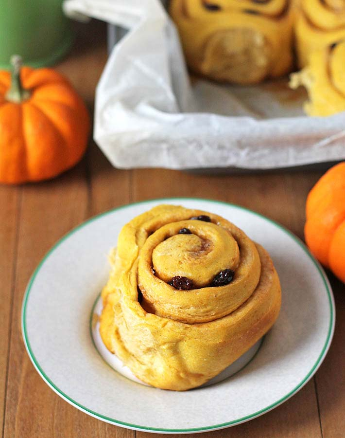 These deliciously sweet and perfectly spiced Vegan Pumpkin Cinnamon Rolls are perfect for a fall treat or for holiday entertaining.