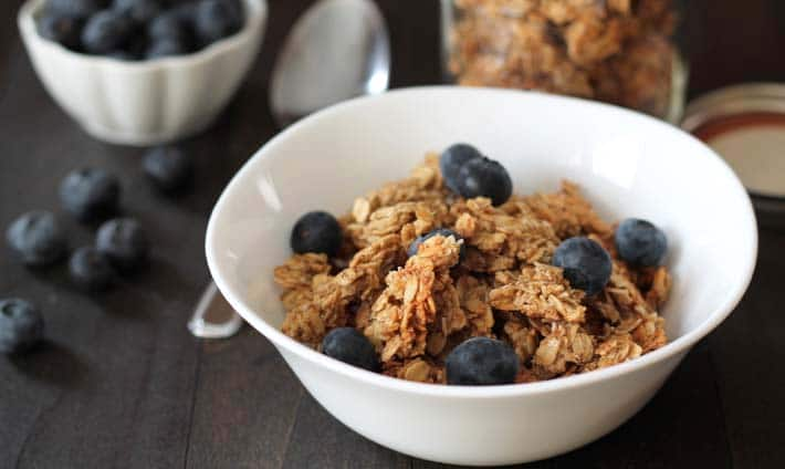 Nut Free Maple Coconut Granola Clusters