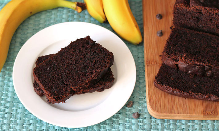 Vegan Chocolate Banana Bread (Gluten Free)