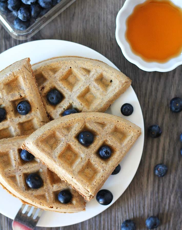 Your family will be asking for more of these Easy Vegan Gluten Free Waffles after you make them!