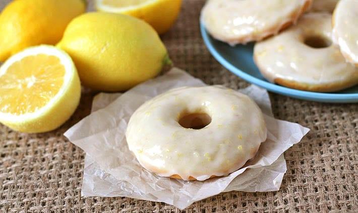 Vegan Baked Lemon Doughnuts (GF)
