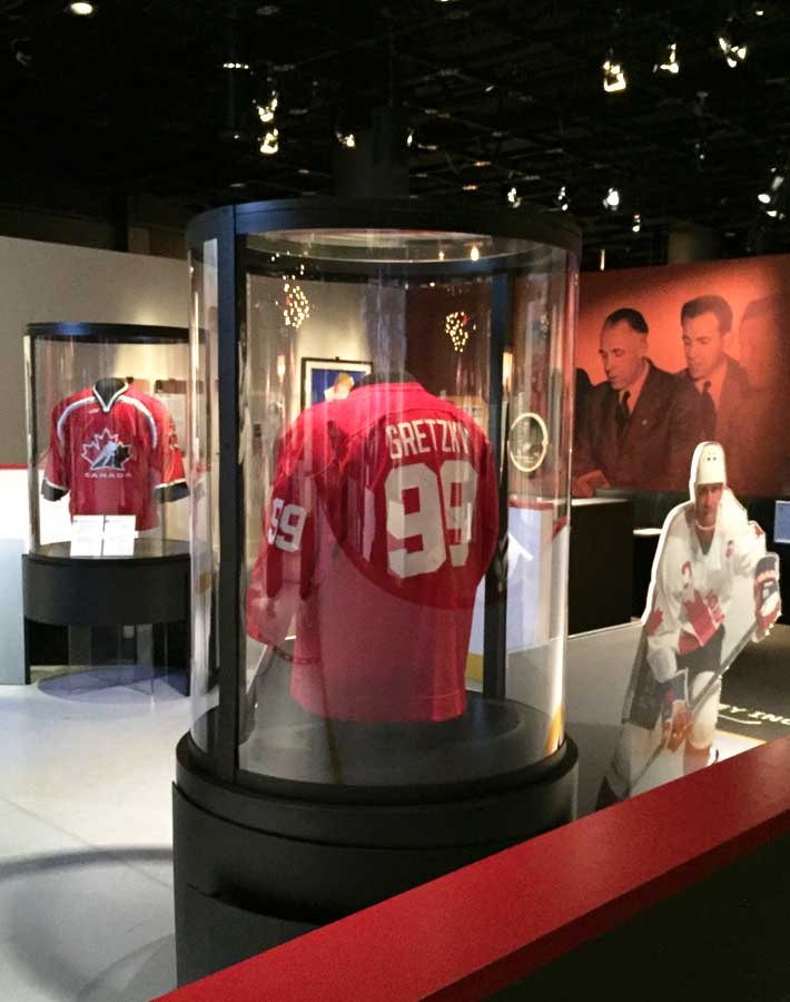Wayne Gretzky jersey at the Canadian Museum of History special exhibit- Family Fun in the Outaouais