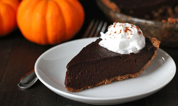 Vegan Chocolate Pumpkin Pie (Gluten Free)