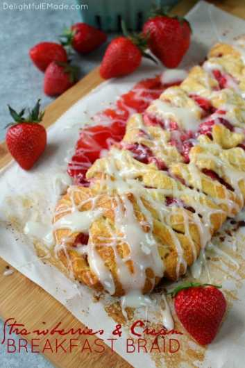 The ultimate strawberry breakfast pastry! This scrumptious Strawberries & Cream Breakfast Braid is made with store-bought crescent dough and a few other simple ingredients, making it incredibly easy to make. Perfect for your next brunch or weekend breakfast!