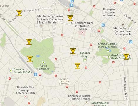 Best places for Aperitivo - Map