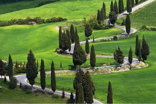 Val d'Orcia in one day Itinerary - Road to Montichiello