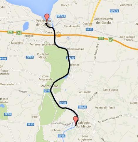 Bike Lane on Mincio River