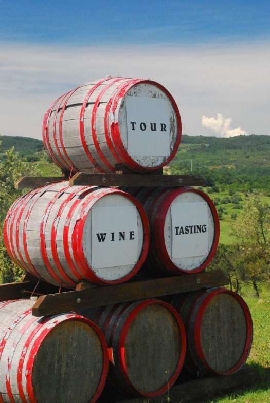 Chianti itinerary - wine barrels