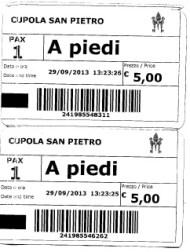 Biglietto san Pietro 1