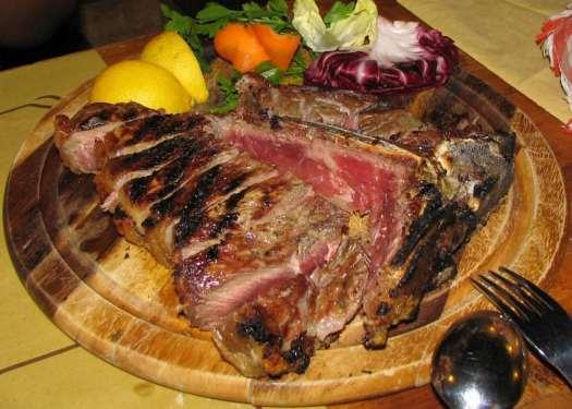 Florence typical food: Bistecca alla fiorentina