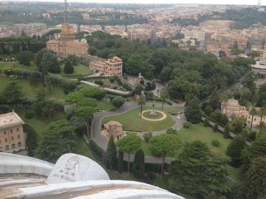 St Peter's dome - Vatican Gardens from cupola