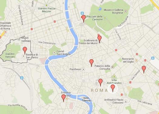 Nativity scenes_Rome_Map