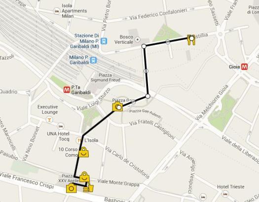 Corso Como_walking tour Porta Nuova_Map