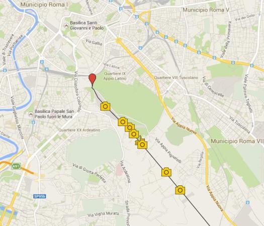 Appian Way map