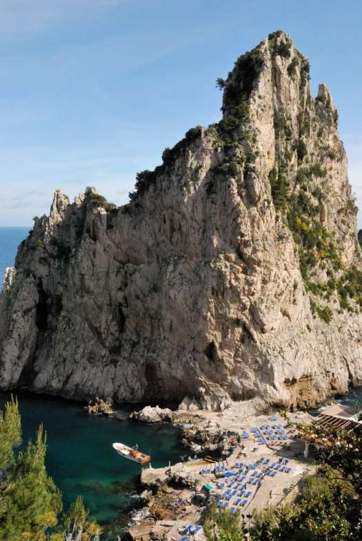 "Capri walking itinerary - The Faraglioni and the Da Luigi restaurant and ""beach"""