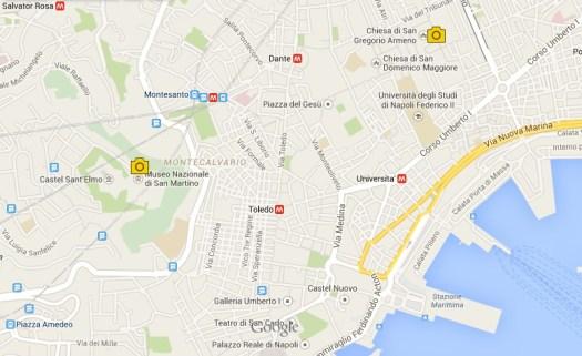 Naples nativity scenes market_San Gregorio Armeno_Map