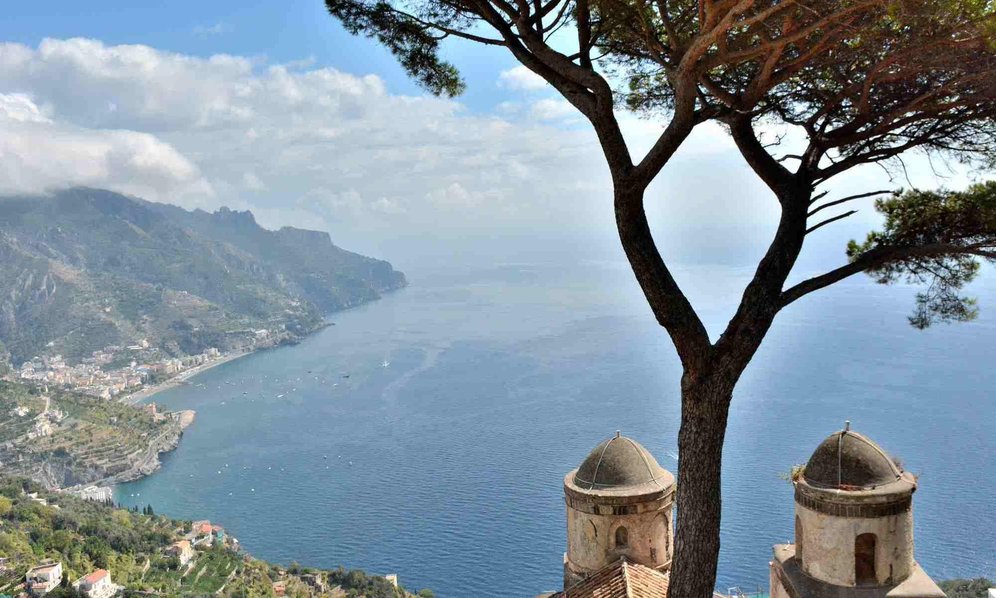 Amalfi coast Italy_view from Villa Ruffolo Terrace